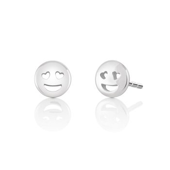 Petite Emoticon Smiley Stud Earrings