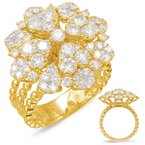 Briana Yellow Gold Diamond Fashion Ring