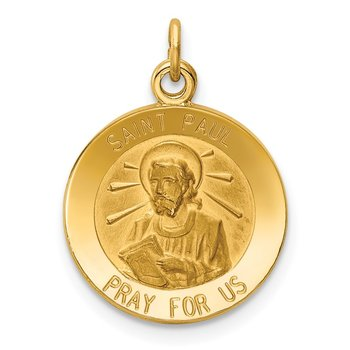 14k Saint Paul Medal Charm