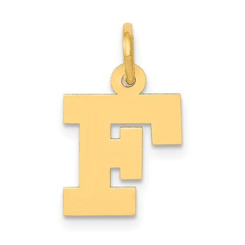 14k Small Block Letter F Initial Charm