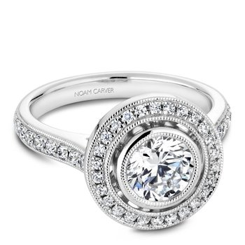 Noam Carver Vintage Engagement Ring R040-02A