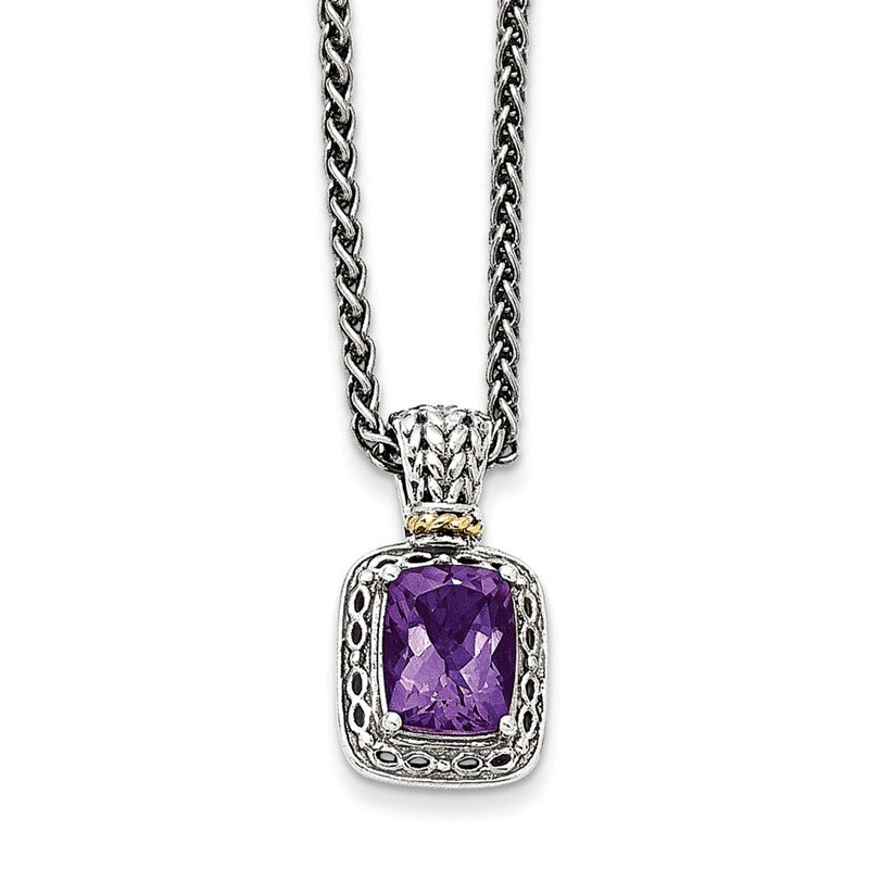 Shey Couture Sterling Silver w/14k Antiqued Amethyst Necklace