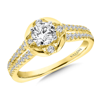Diamond Engagement Ring Mounting in 14K Yellow Gold (.30 ct. tw.)