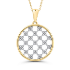 1/4 Ct Diamond Circle Pendant with Chain