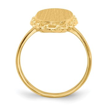 14k 16.0x9.0mm Open Back Signet Ring