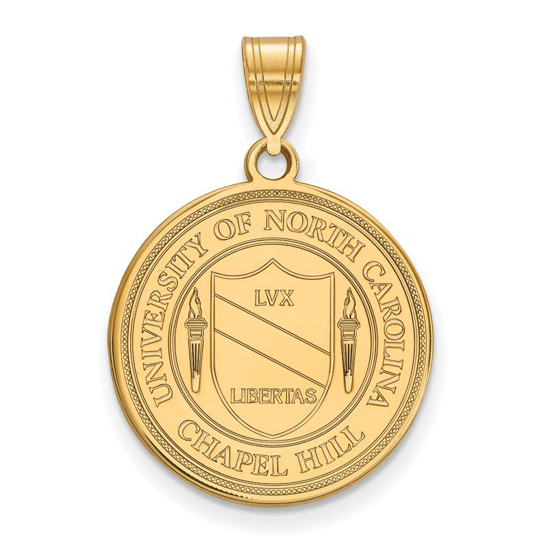 NCAA Gold-Plated Sterling Silver University of North Carolina NCAA Pendant
