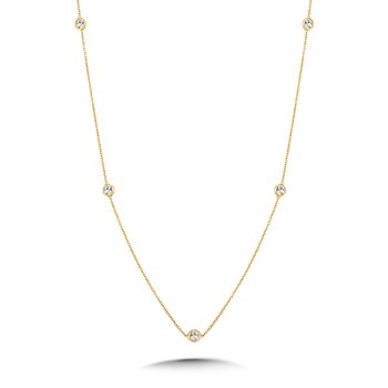 36 Inch Bezeled Diamond By the Yard Necklace