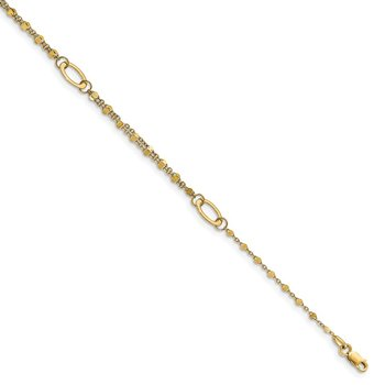 Leslie's 14K Polished with 1in ext. Anklet