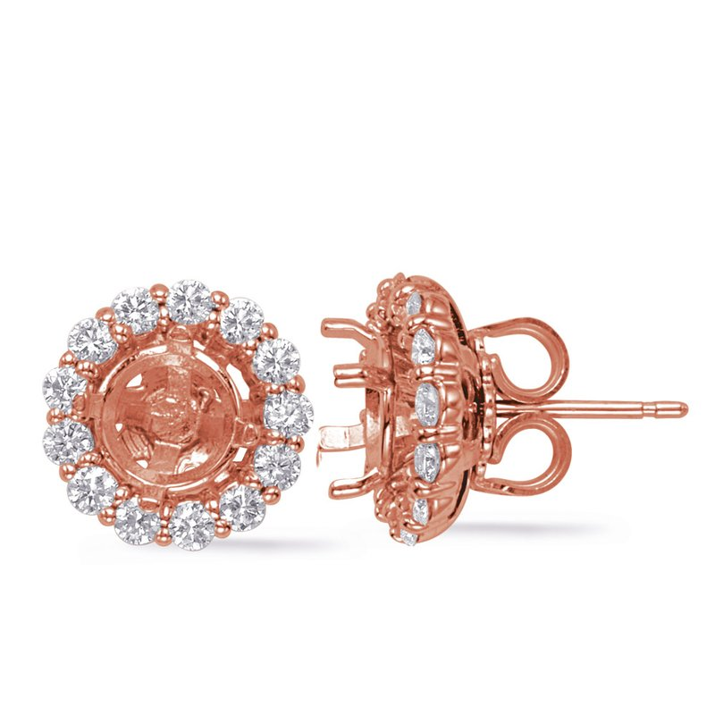 S. Kashi  & Sons Rose Gold Jackets Earring 1ct each