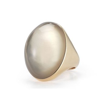 Ring with Quartz and Mother of Pearl