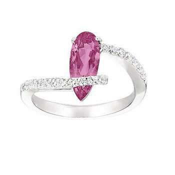 Pink Sapphire Ring-CR6658WPS