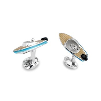 Sterling Silver Speedboat Cufflinks