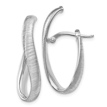 Leslie's 14K White Gold Textured Earrings