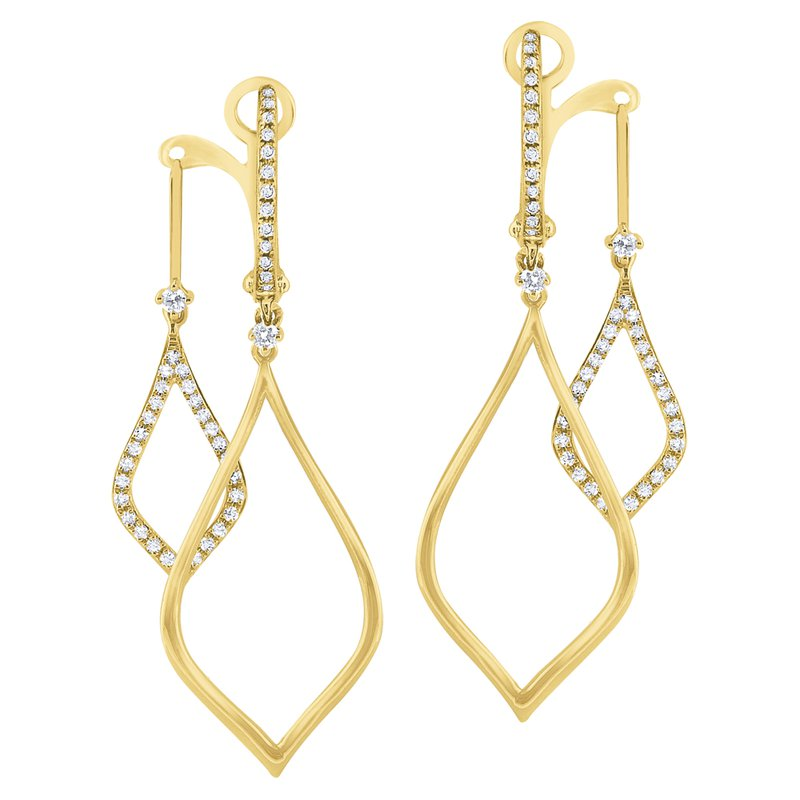 KC Designs 14K Diamond Front / Back Earrings