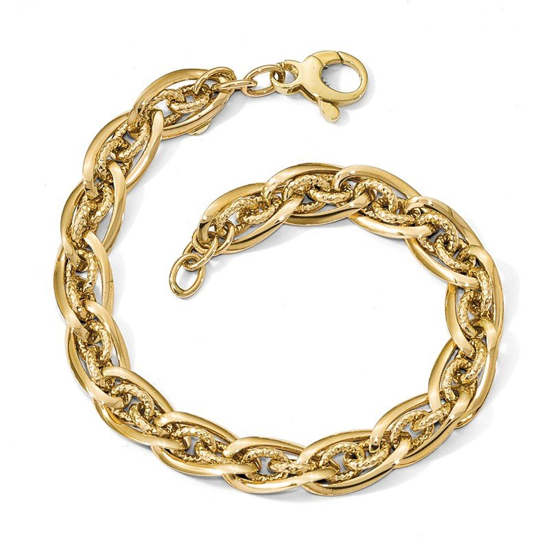 Leslie's Leslie's 14k Polished D/C Fancy Link Necklace