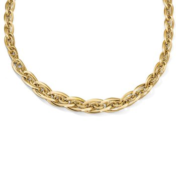Leslie's 14k Polished D/C Fancy Link Necklace