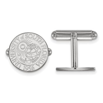 Sterling Silver University of South Florida NCAA Cuff Links