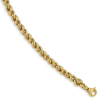 14K Polished Fancy Link Bracelet