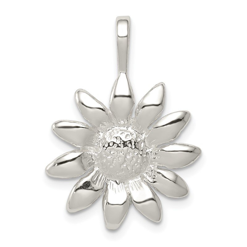 Quality Gold Sterling Silver Sunflower Pendant