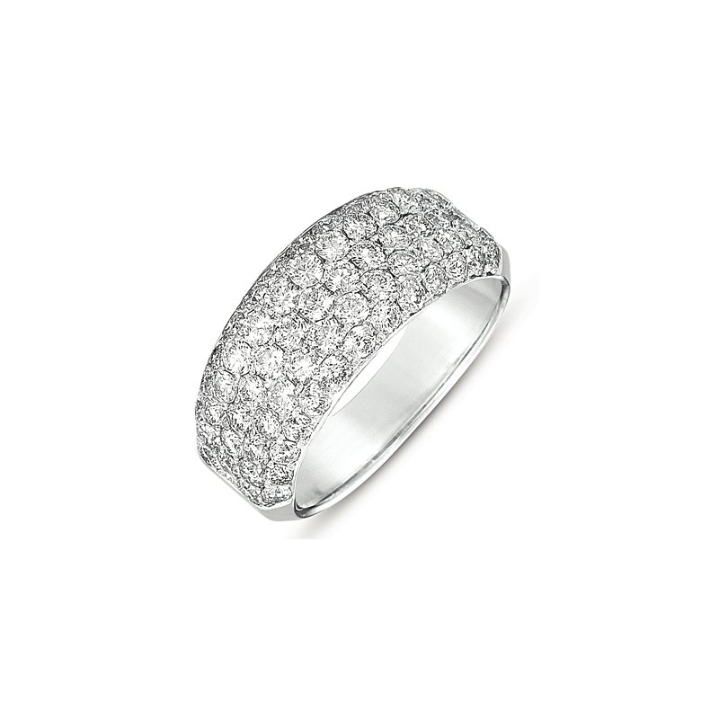 S. Kashi  & Sons White Gold Pave Wedding Band