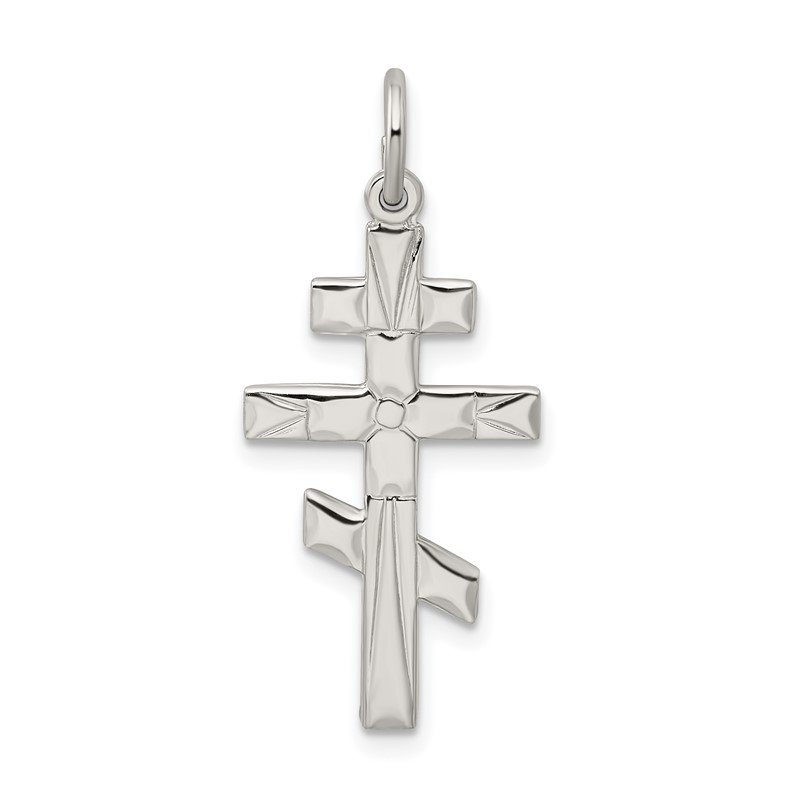 Arizona Diamond Center Collection Sterling Silver Eastern Orthodox Cross Charm
