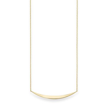 14K Gold Crescent Bar Necklace