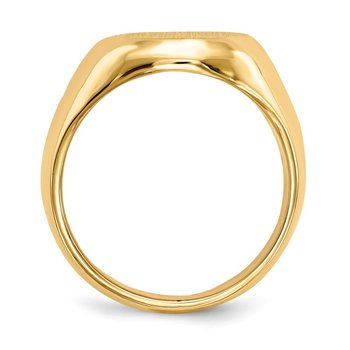 14k 16.5x13.5mm Closed Back Men's Signet Ring