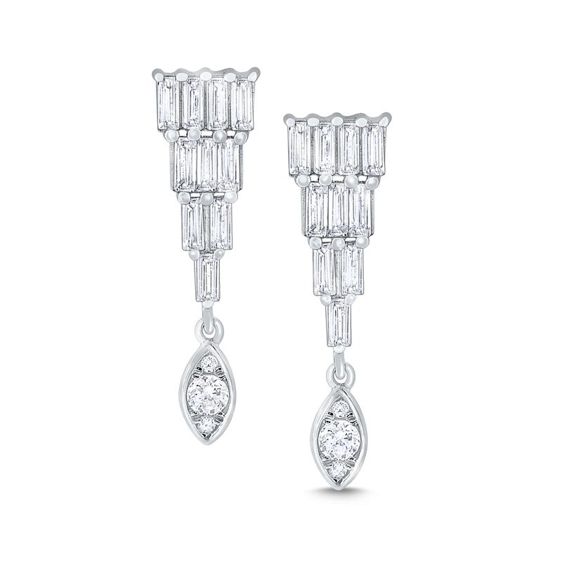 KC Designs 14k Gold and Diamond Mosaic Earrings
