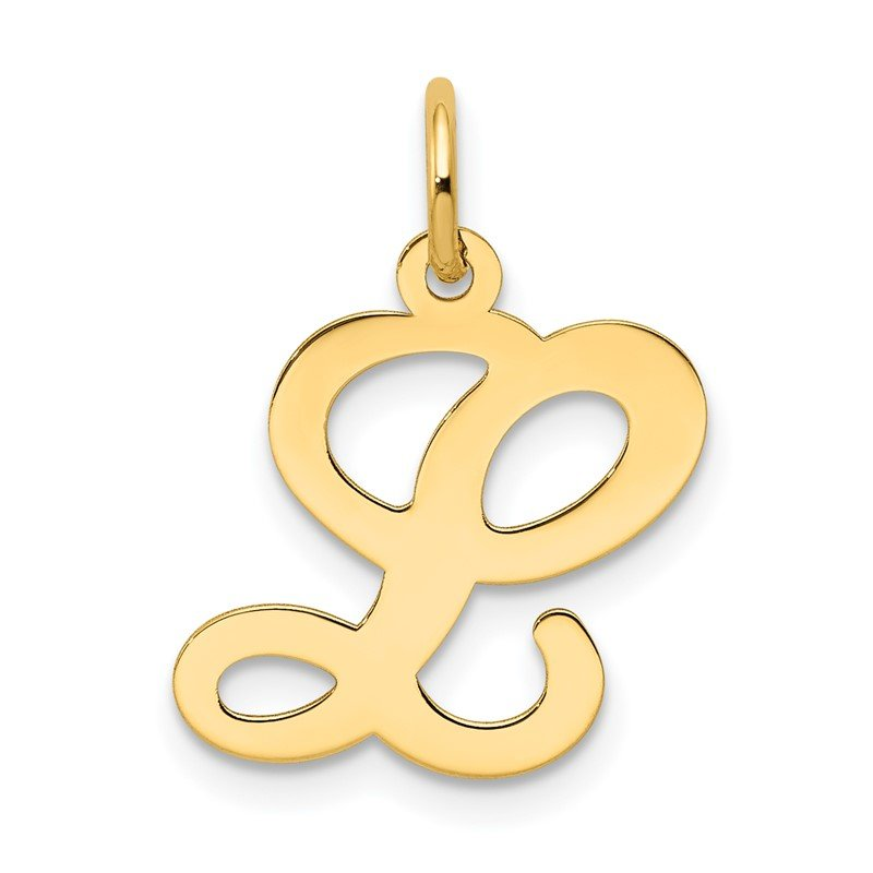 Quality Gold 14KY Script Letter L Initial Charm