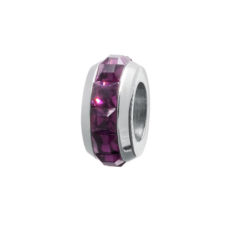 Brosway 316L stainless steel and amethyst Swarovski® Elements crystal