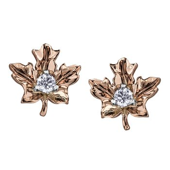 Maple Leaf Diamond , Seasons™ by Shelly Purdy,Earrings