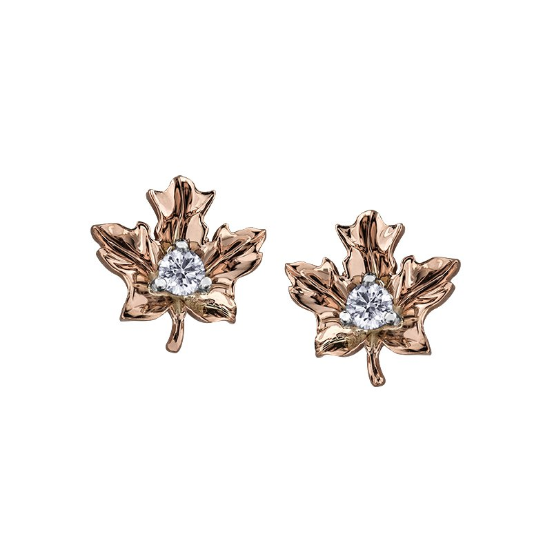 Maple Leaf Diamonds Maple Leaf Diamond , Seasons™ by Shelly Purdy,Earrings