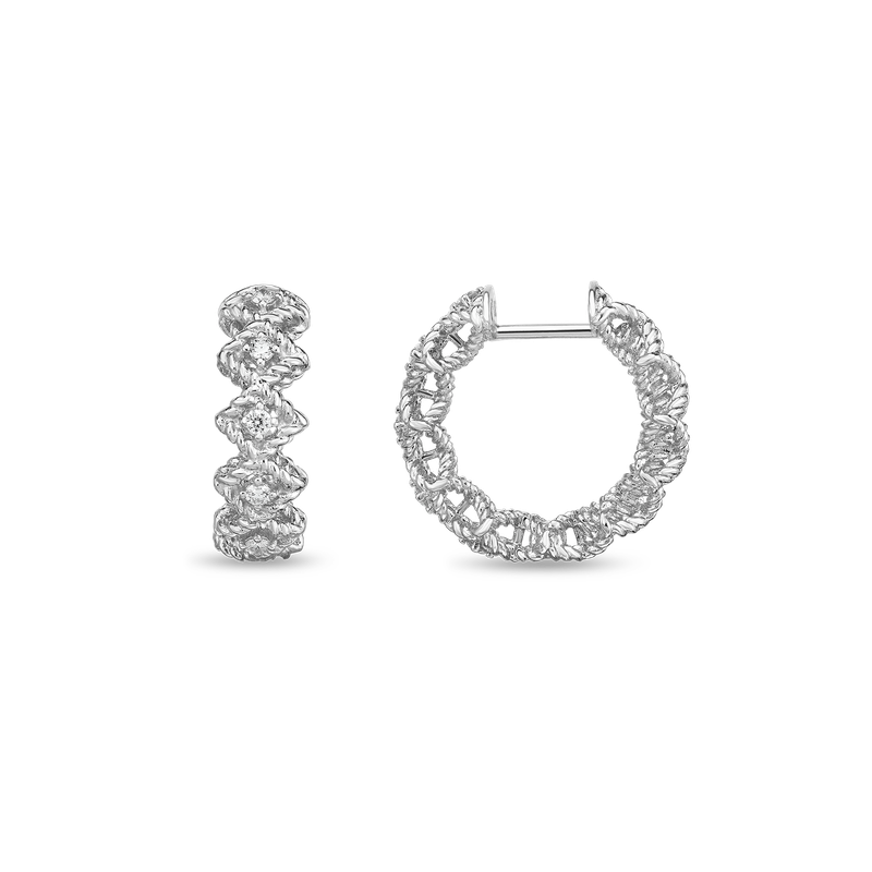Roberto Coin  #19400 Of Round Diamond Hoop Earring