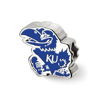 Sterling Silver University of Kansas NCAA Bead