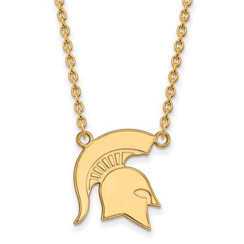 Gold Michigan State University NCAA Necklace