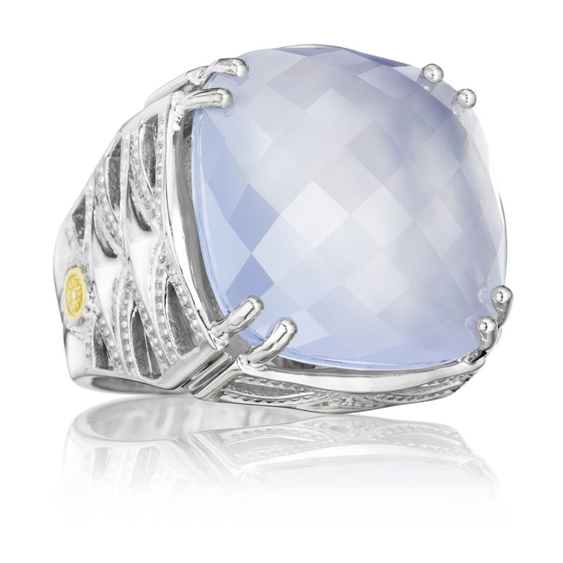 Tacori Fashion Bold Woven Crescent Ring featuring Chalcedony