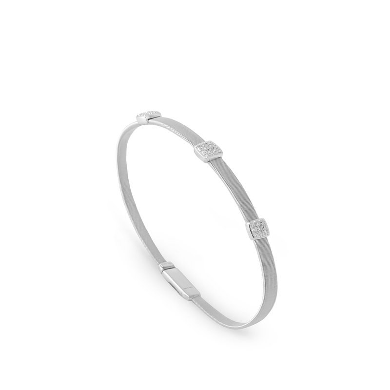 Marco Bicego Masai Three Station Diamond Bracelet in White Gold