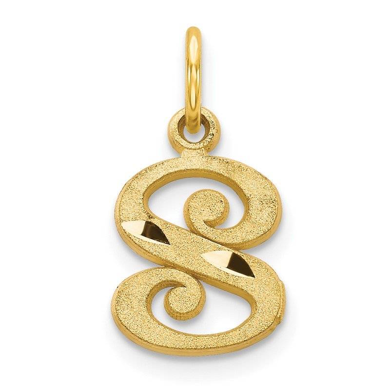 Quality Gold 14k Letter S Initial Charm