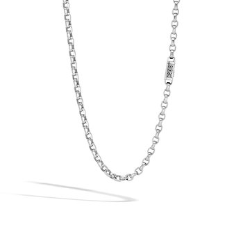 Classic Chain 5.6MM Box Chain Necklace in Silver