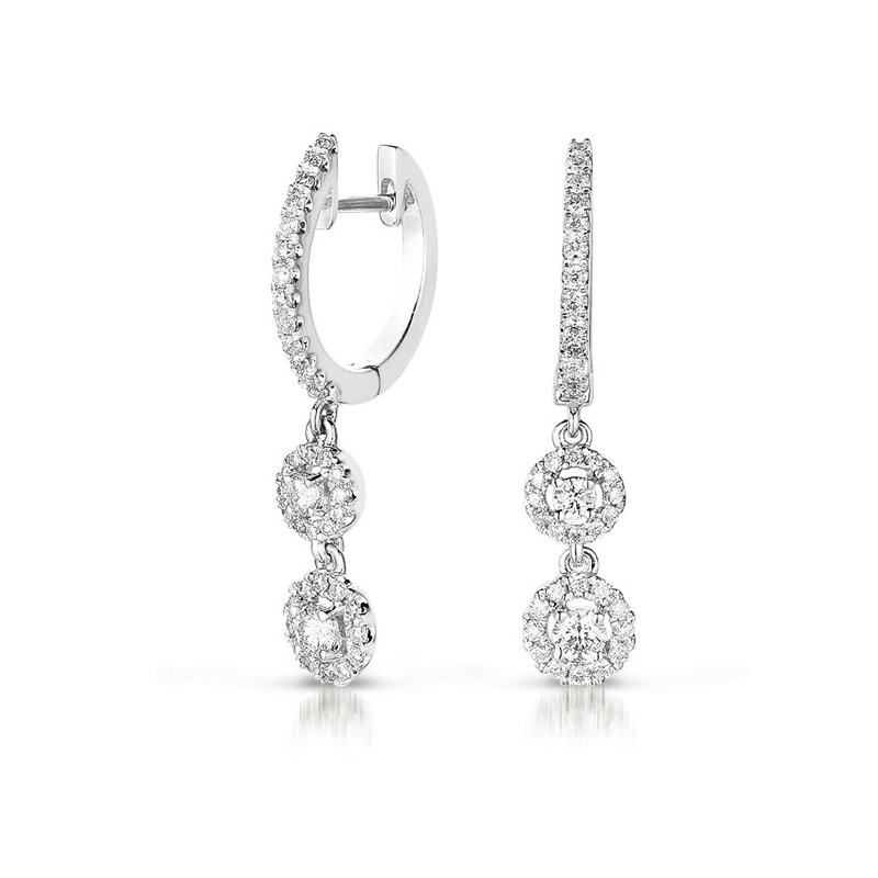Briana White Gold Diamond Hoop Earring