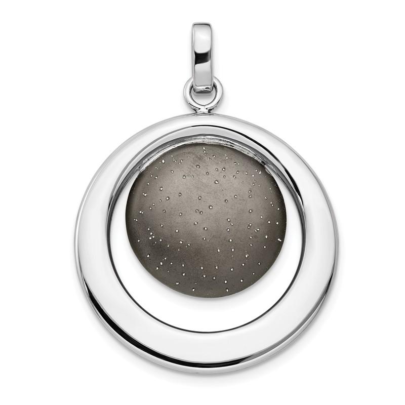 Silver Radiant Essence Ruthenium Earrings