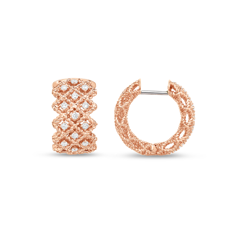 Roberto Coin  #19395 Of Three Row Hoop Earring