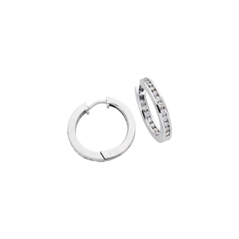 S. Kashi  & Sons 21mm Channel Hoop Earring