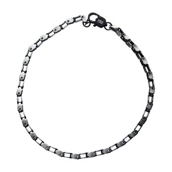 Stainless Steel Black Plated 2.7mm Mechanical Box Chain
