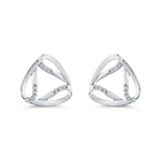 Essentials 10K White Gold .07 ct White Diamond Fashion Stud Earrings