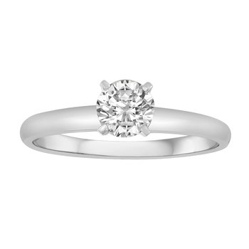 18KW 3/4 CTW RD 97 FACET FOREVER BRIGHT SOLITAIRE