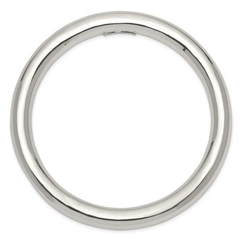 Sterling Silver 8mm Slip-on Tube Bangle