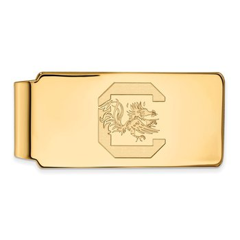 Gold-Plated Sterling Silver University of South Carolina NCAA Money Clip