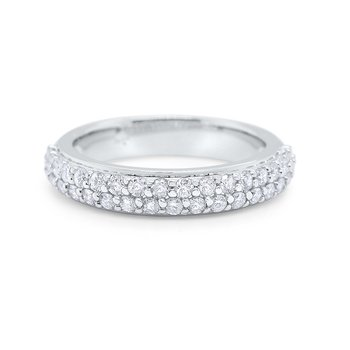14k Gold and Pave Diamond Ring
