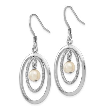 Leslie's Sterling Silver FW Cultured Pearl Dangle Earrings